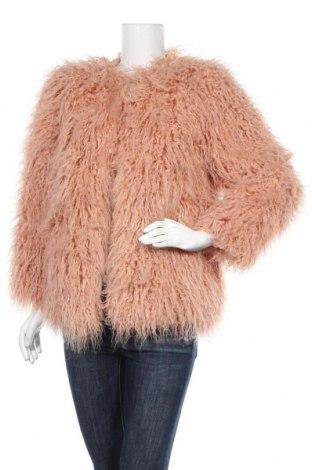 Дамско палто H&M, Размер S, Цвят Розов, 60% 79% акрил, 21% полиестер, Цена 54,60лв.