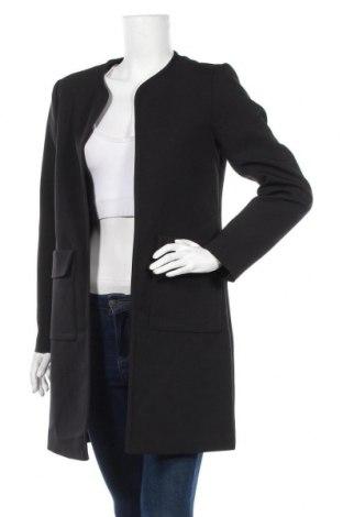 Дамско палто H&M, Размер S, Цвят Черен, 95% полиестер, 5% еластан, Цена 36,96лв.