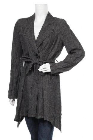 Дамско палто Mac & Jac, Размер L, Цвят Сив, 55% лен, 45% вискоза, Цена 17,06лв.
