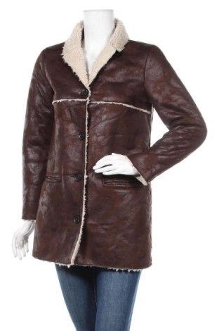 Дамско палто Mango, Размер S, Цвят Кафяв, Полиестер, Цена 22,58лв.