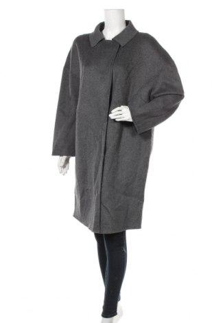 Дамско палто Mango, Размер M, Цвят Сив, 54% вълна, 46% полиестер, Цена 62,37лв.