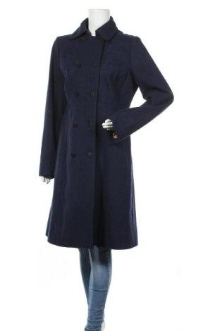 Γυναικείο παλτό Noa Noa, Μέγεθος L, Χρώμα Μπλέ, 60% μαλλί, 25% πολυεστέρας, 15% βισκόζη, Τιμή 40,27€