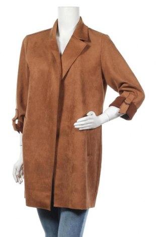 Дамско палто ONLY, Размер L, Цвят Кафяв, 92% полиестер, 8% еластан, Цена 40,95лв.