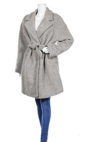 Дамско палто Promod, Размер XL, Цвят Сив, 60% вълна, 40% полиестер, Цена 53,04лв.