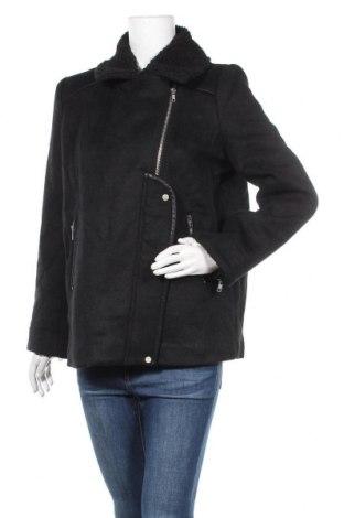 Дамско палто SUNCOO, Размер M, Цвят Черен, 50% вълна, 50% полиестер, Цена 103,32лв.