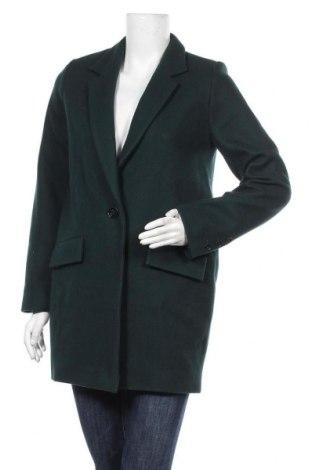 Дамско палто Sessun, Размер XS, Цвят Зелен, 80% вълна, 20% полиамид, Цена 97,25лв.