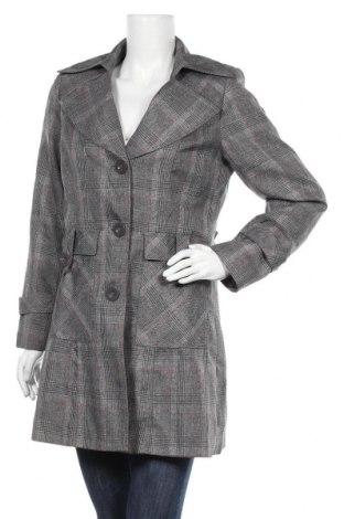 Дамско палто Trend, Размер M, Цвят Сив, 98% полиестер, 2% еластан, Цена 17,96лв.