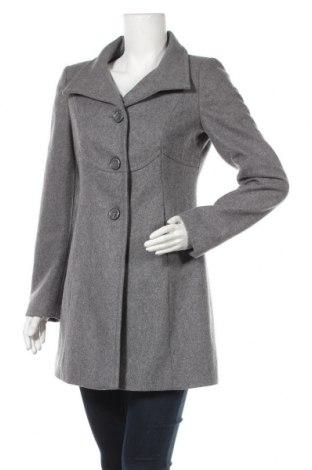 Дамско палто United Colors Of Benetton, Размер S, Цвят Сив, 60% вълна, 30% полиестер, 10% вискоза, Цена 130,50лв.
