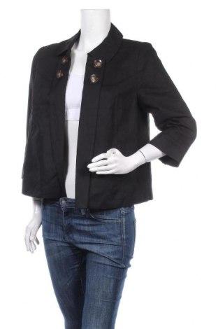Дамско палто Yessica, Размер M, Цвят Черен, 52% памук, 48% лен, Цена 36,86лв.