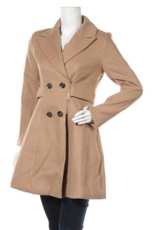 Дамско палто Yumi, Размер S, Цвят Бежов, Полиестер, Цена 121,50лв.