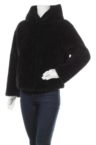 Дамско палто Zara Trafaluc, Размер M, Цвят Черен, Полиестер, Цена 52,92лв.