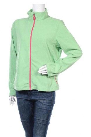 Дамско поларено горнище Up 2 Fashion, Размер L, Цвят Зелен, Полиестер, Цена 33,92лв.