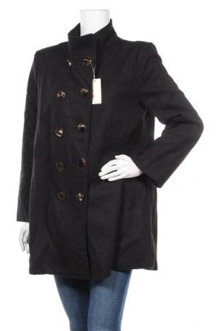 Дамско поларено палто TINA, Размер L, Цвят Черен, Полиестер, Цена 35,55лв.