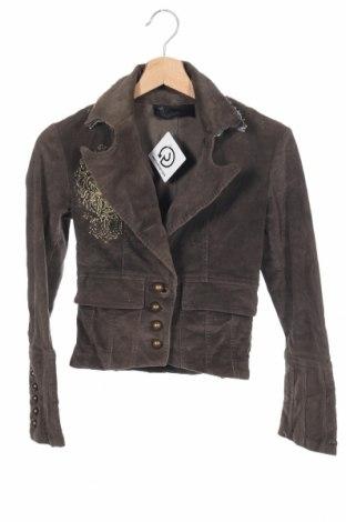 Дамско сако, Размер XS, Цвят Кафяв, 097% памук, 3% еластан, Цена 15,70лв.