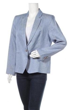 Дамско сако Caroll, Размер XL, Цвят Син, Лен, Цена 167,17лв.