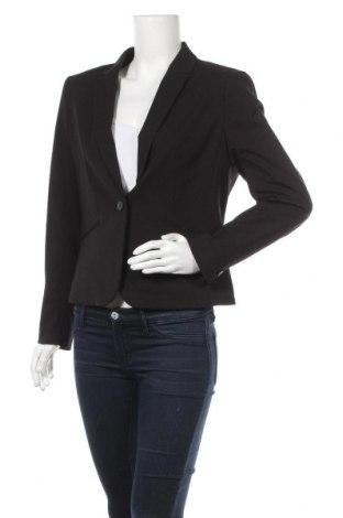 Дамско сако H&M, Размер L, Цвят Черен, 63% полиестер, 33% вискоза, 4% еластан, Цена 16,38лв.