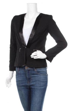 Дамско сако H&M, Размер S, Цвят Черен, 62% полиестер, 35% вискоза, 3% еластан, Цена 15,75лв.