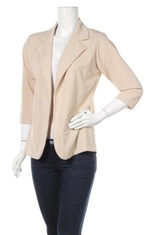 Дамско сако Manon Bastille, Размер S, Цвят Бежов, 95% полиестер, 5% еластан, Цена 26,60лв.