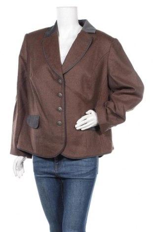 Γυναικείο σακάκι Mona, Μέγεθος XXL, Χρώμα Καφέ, 75% βαμβάκι, 25% πολυεστέρας, Τιμή 16,70€