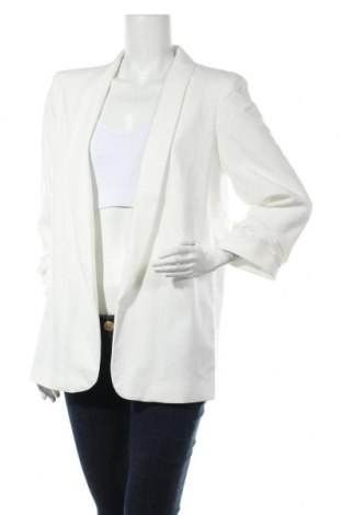 Дамско сако Pieces, Размер XL, Цвят Бял, 79% полиестер, 16% вискоза, 5% еластан, Цена 24,15лв.