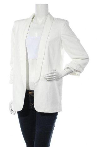 Дамско сако Pieces, Размер L, Цвят Бял, 79% полиестер, 16% вискоза, 5% еластан, Цена 22,08лв.