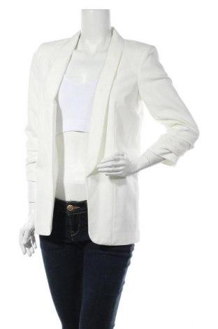 Дамско сако Pieces, Размер S, Цвят Бял, 79% полиестер, 16% вискоза, 5% еластан, Цена 25,20лв.