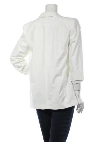 Дамско сако Pieces, Размер L, Цвят Бял, 79% полиестер, 16% вискоза, 5% еластан, Цена 27,52лв.