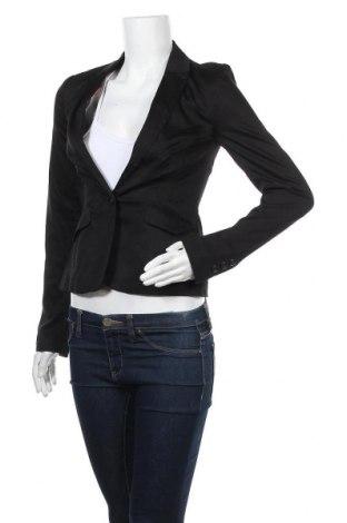 Дамско сако Pimkie, Размер XXS, Цвят Черен, 98% памук, 2% еластан, Цена 23,94лв.