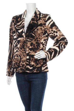 Дамско сако Pompoos Design By Harald Gloockler, Размер L, Цвят Кафяв, 95% полиестер, 5% еластан, Цена 19,95лв.