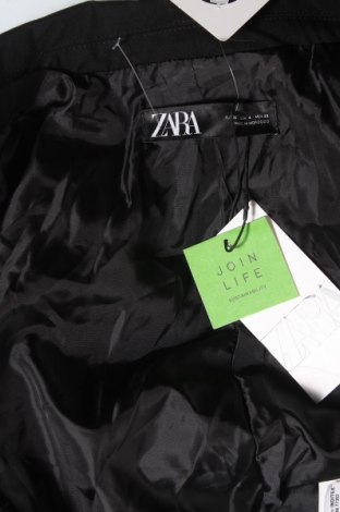 Дамско сако Zara, Размер S, Цвят Черен, 63% полиестер, 33% вискоза, 4% еластан, Цена 35,60лв.