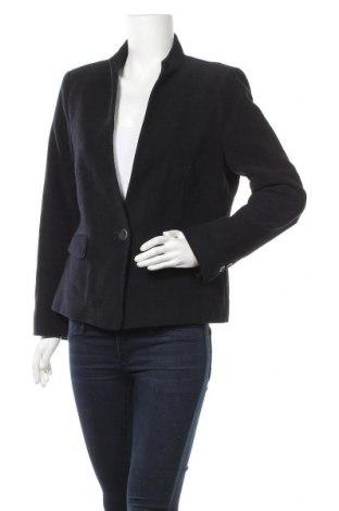 Дамско сако Zara, Размер XL, Цвят Син, 100% памук, Цена 23,94лв.