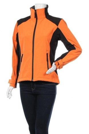Дамско спортно яке, Размер S, Цвят Оранжев, 93% полиестер, 7% еластан, Цена 21,95лв.