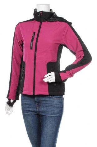 Дамско спортно яке Crane, Размер S, Цвят Розов, 89% полиестер, 7% еластан, 4% полиуретан, Цена 32,29лв.