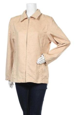 Дамско яке, Размер L, Цвят Бежов, Полиестер, Цена 8,66лв.
