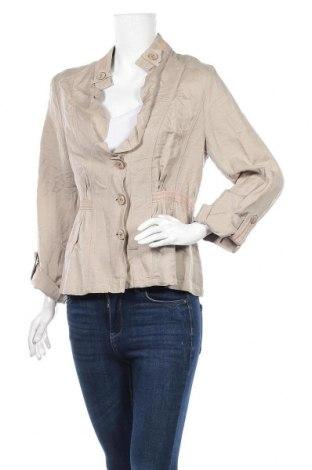 Дамско яке, Размер XL, Цвят Бежов, 55% лен, 45% вискоза, Цена 11,17лв.