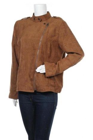 Дамско яке C&A, Размер XL, Цвят Кафяв, Полиестер, Цена 25,20лв.