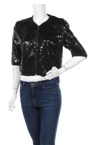 Дамско яке Cocolatte, Размер XL, Цвят Черен, Полиестер, еластан, Цена 38,90лв.