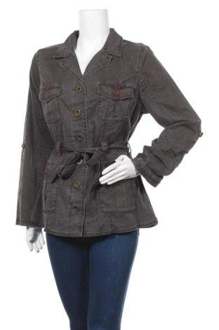 Дамско яке Fashion Bug, Размер L, Цвят Сив, 98% памук, 2% еластан, Цена 21,42лв.
