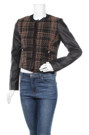 Дамско яке Fracomina, Размер S, Цвят Черен, Текстил, еко кожа, Цена 14,18лв.