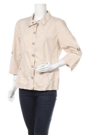 Γυναικείο μπουφάν G.W., Μέγεθος L, Χρώμα  Μπέζ, Βαμβάκι, Τιμή 10,46€