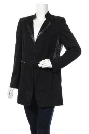Дамско палто Gerry Weber, Размер L, Цвят Черен, Текстил, еко кожа, Цена 79,38лв.