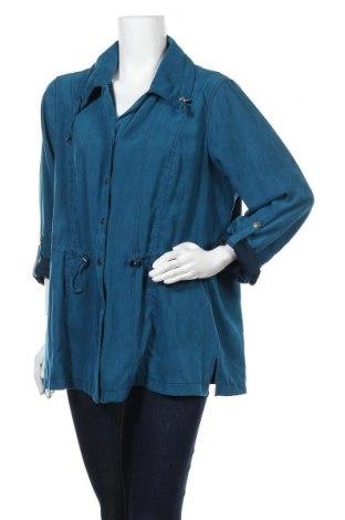 Дамско яке Gina Laura, Размер XL, Цвят Зелен, 100% полиестер, Цена 18,48лв.
