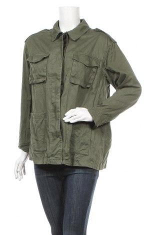 Дамско яке H&M, Размер S, Цвят Зелен, Памук, Цена 18,43лв.