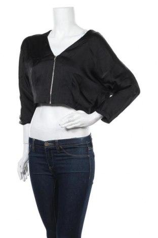 Дамско яке H&M, Размер M, Цвят Черен, Полиестер, Цена 20,58лв.