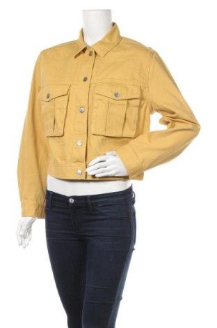 Дамско яке H&M Divided, Размер M, Цвят Жълт, Памук, Цена 22,05лв.