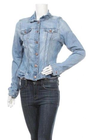 Дамско яке H&M L.O.G.G., Размер L, Цвят Син, 99% памук, 1% еластан, Цена 32,76лв.