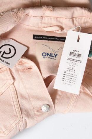 Дамско яке ONLY, Размер M, Цвят Розов, 98% памук, 2% еластан, Цена 23,56лв.