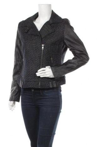 Дамско яке Yessica, Размер M, Цвят Черен, Текстил, еко кожа, Цена 20,35лв.