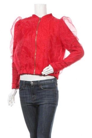 Дамско яке Zara, Размер M, Цвят Червен, 95% полиестер, 5% еластан, Цена 44,25лв.