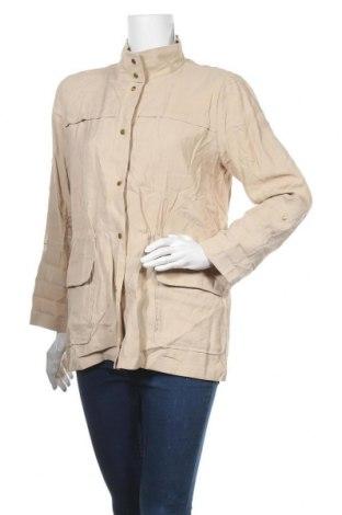 Дамско яке Zara, Размер L, Цвят Бежов, 94% вискоза, 6% полиестер, Цена 12,08лв.